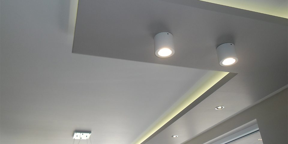 Фигуративен таван от гипсокартон